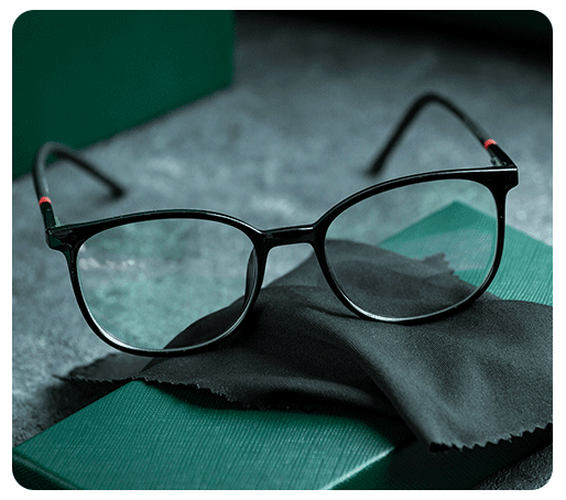 front-view-modern-sunglasses-modern-grey-desk-isolated-vision-spectacles-elegance